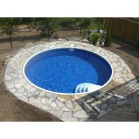 Eternity 15 ft Round Semi Inground Pool Complete Package